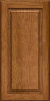 Square Raised Panel - Solid (MTH) Hickory in Golden Lager - Wall