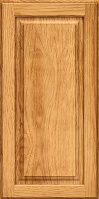 Square Raised Panel - Solid (MTH) Hickory in Honey Spice - Wall