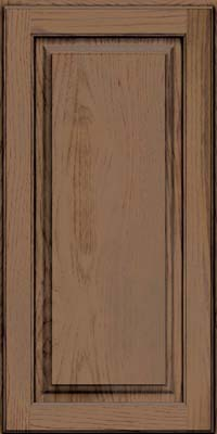 Square Raised Panel - Solid (MTH) Hickory in Husk Suede - Wall