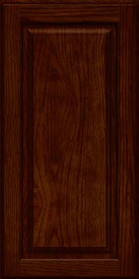 Square Raised Panel - Solid (MTH) Hickory in Kaffe - Wall