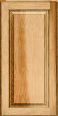 Square Raised Panel - Solid (MTH) Hickory in Natural - Wall