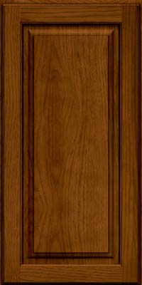 Square Raised Panel - Solid (MTH) Hickory in Praline w/Onyx Glaze - Wall