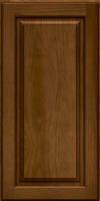 Square Raised Panel - Solid (MTH) Hickory in Rye w/Onyx Glaze - Wall