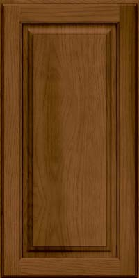 Square Raised Panel - Solid (MTH) Hickory in Rye w/Sable Glaze - Wall
