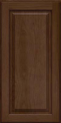Square Raised Panel - Solid (MTH) Hickory in Saddle - Wall