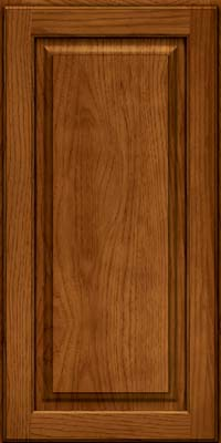 Square Raised Panel - Solid (MTH) Hickory in Sunset - Wall