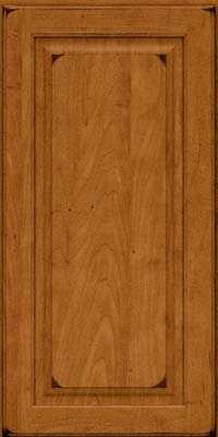 Square Raised Panel - Solid (MTM) Maple in Burnished Golden Lager - Wall