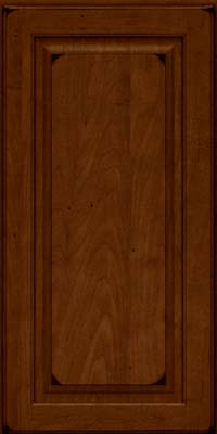 Square Raised Panel - Solid (MTM) Maple in Burnished Chestnut - Wall