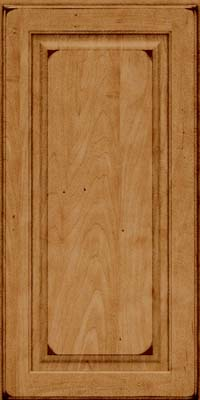 Square Raised Panel - Solid (MTM) Maple in Burnished Ginger - Wall