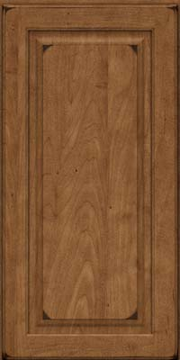 Square Raised Panel - Solid (MTM) Maple in Burnished Rye - Wall