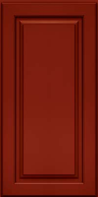 Piermont Square - Full (MTM4) Maple in Cardinal w/Onyx Glaze - Wall