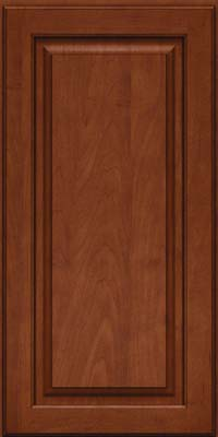 Square Raised Panel - Solid (MTM) Maple in Chestnut w/Onyx Glaze - Wall