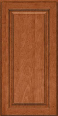 Square Raised Panel - Solid (MTM) Maple in Cinnamon - Wall