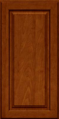 Square Raised Panel - Solid (MTM) Maple in Cinnamon w/Onyx Glaze - Wall