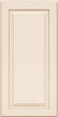 Piermont Square - Full (MTM4) Maple in Dove White w/Cocoa Glaze - Wall
