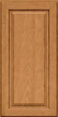 Square Raised Panel - Solid (MTM) Maple in Ginger w/Sable Glaze - Wall