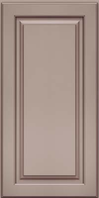 Square Raised Panel - Solid (MTM) Maple in Pebble Grey w/ Cocoa Glaze - Wall