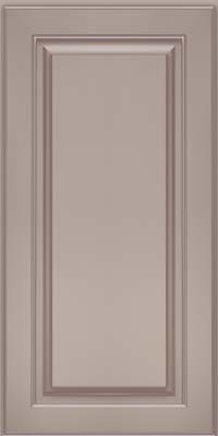 Square Raised Panel - Solid (MTM) Maple in Pebble Grey w/ Coconut Glaze - Wall
