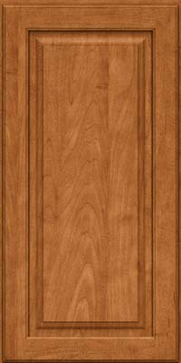Square Raised Panel - Solid (MTM) Maple in Praline w/Mocha Highlight - Wall