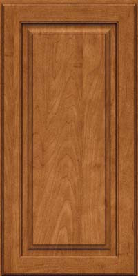 Square Raised Panel - Solid (MTM) Maple in Praline w/Onyx Glaze - Wall