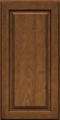 Square Raised Panel - Solid (MTM) Maple in Rye w/Onyx Glaze - Wall