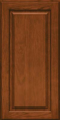 Square Raised Panel - Solid (MTO) Oak in Autumn Blush - Wall