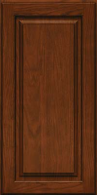 Square Raised Panel - Solid (MTO) Oak in Autumn Blush w/Onyx Glaze - Wall