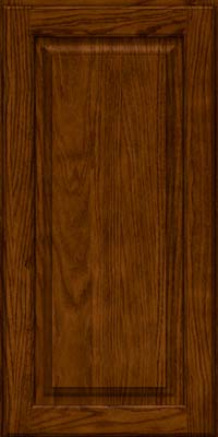 Square Raised Panel - Solid (MTO) Oak in Cognac - Wall