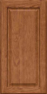Square Raised Panel - Solid (MTO) Oak in Ginger w/Sable Glaze - Wall