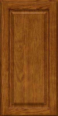 Square Raised Panel - Solid (MTO) Oak in Golden Lager - Wall