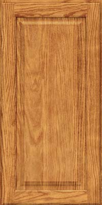 Square Raised Panel - Solid (MTO) Oak in Honey Spice - Wall