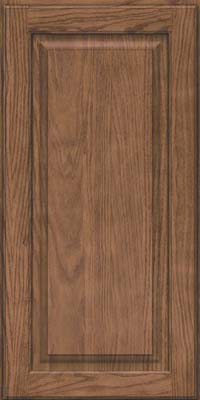 Square Raised Panel - Solid (MTO) Oak in Husk Suede - Wall