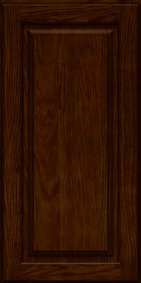 Square Raised Panel - Solid (MTO) Oak in Kaffe - Wall