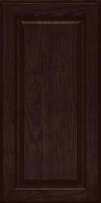 Square Raised Panel - Solid (MTO) Oak in Peppercorn - Wall