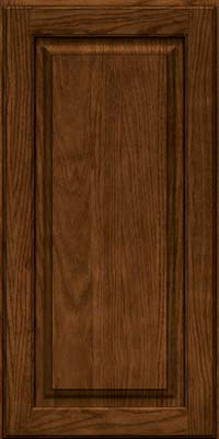 Square Raised Panel - Solid (MTO) Oak in Rye w/Onyx Glaze - Wall