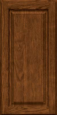 Square Raised Panel - Solid (MTO) Oak in Rye w/Sable Glaze - Wall