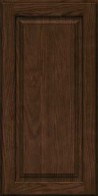 Square Raised Panel - Solid (MTO) Oak in Saddle Suede - Wall