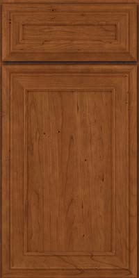 Square Recessed Panel - Veneer (NBC) Cherry in Antique Chocolate w/Mocha Glaze - Base