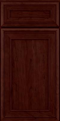 Square Recessed Panel - Veneer (NBC) Cherry in Cabernet - Base