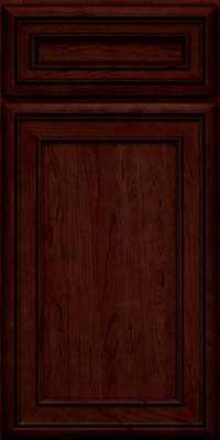 Square Recessed Panel - Veneer (NBC) Cherry in Cabernet w/Onyx Glaze - Base