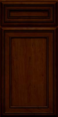 Square Recessed Panel - Veneer (NBC) Cherry in Chocolate w/Ebony Glaze - Base