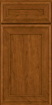 Square Recessed Panel - Veneer (NBC) Cherry in Golden Lager - Base