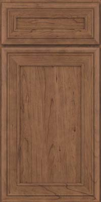 Square Recessed Panel - Veneer (NBC) Cherry in Husk Suede - Base
