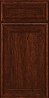 Square Recessed Panel - Veneer (NBC) Cherry in Kaffe - Base