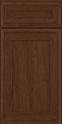Square Recessed Panel - Veneer (NBC) Cherry in Saddle Suede - Base