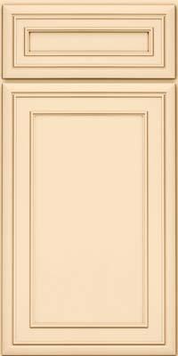 Square Recessed Panel - Veneer (NBM) Maple in Biscotti w/Cocoa Glaze - Base