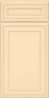 Square Recessed Panel - Veneer (NBM) Maple in Biscotti w/Coconut Glaze - Base
