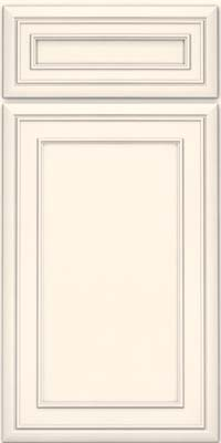 Square Recessed Panel - Veneer (NBM) Maple in Canvas w/ Cinder Glaze - Base