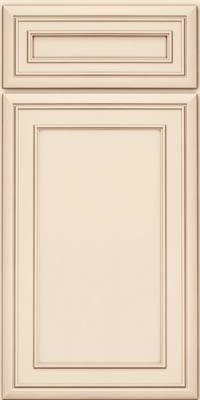 Square Recessed Panel - Veneer (NBM) Maple in Canvas w/Cocoa Glaze - Base