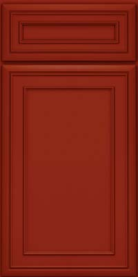 Square Recessed Panel - Veneer (NBM) Maple in Cardinal - Base